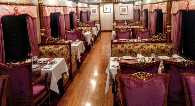 Dining in Golden Chariot