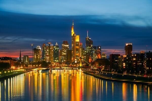 Frankfurt city lights