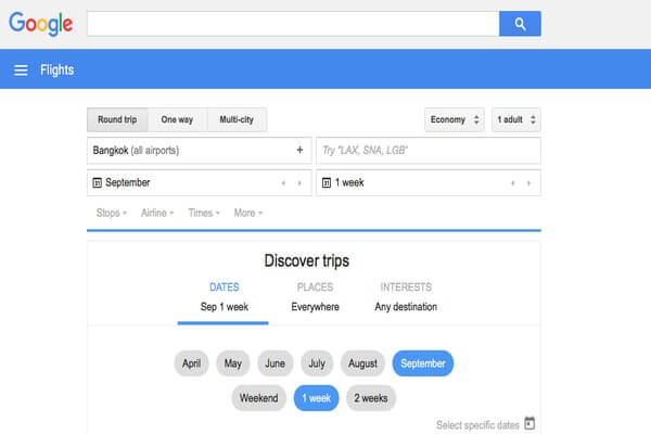 enter date and time in google; how to get cheap flights