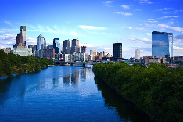top places to visit in Pennsylvania state is the Riverside view of Philadelphia
