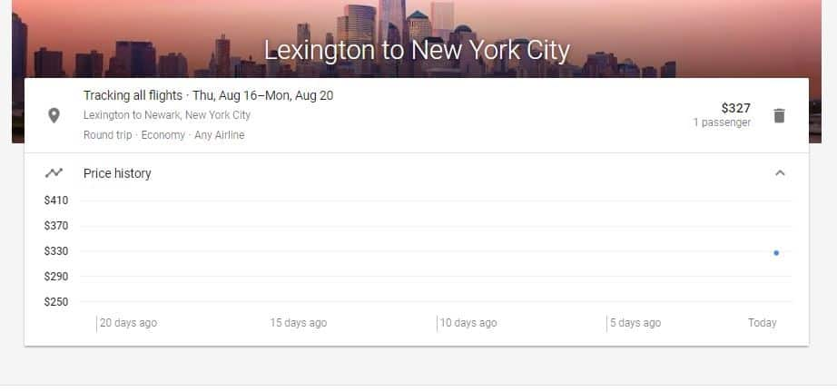 View the flights you've tracked; How to Set Up Google Flight Alerts