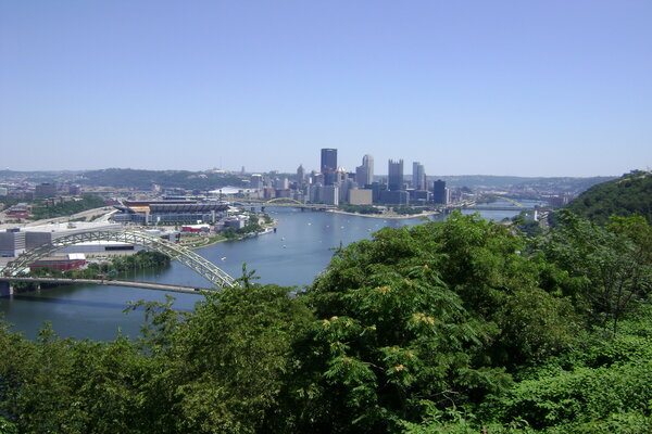 Pittsburgh city skyline, surely one of the top places to visit in Pennsylvania