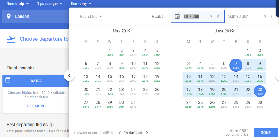 How To Set Up Google Flight Alerts?;  Choose your travel date