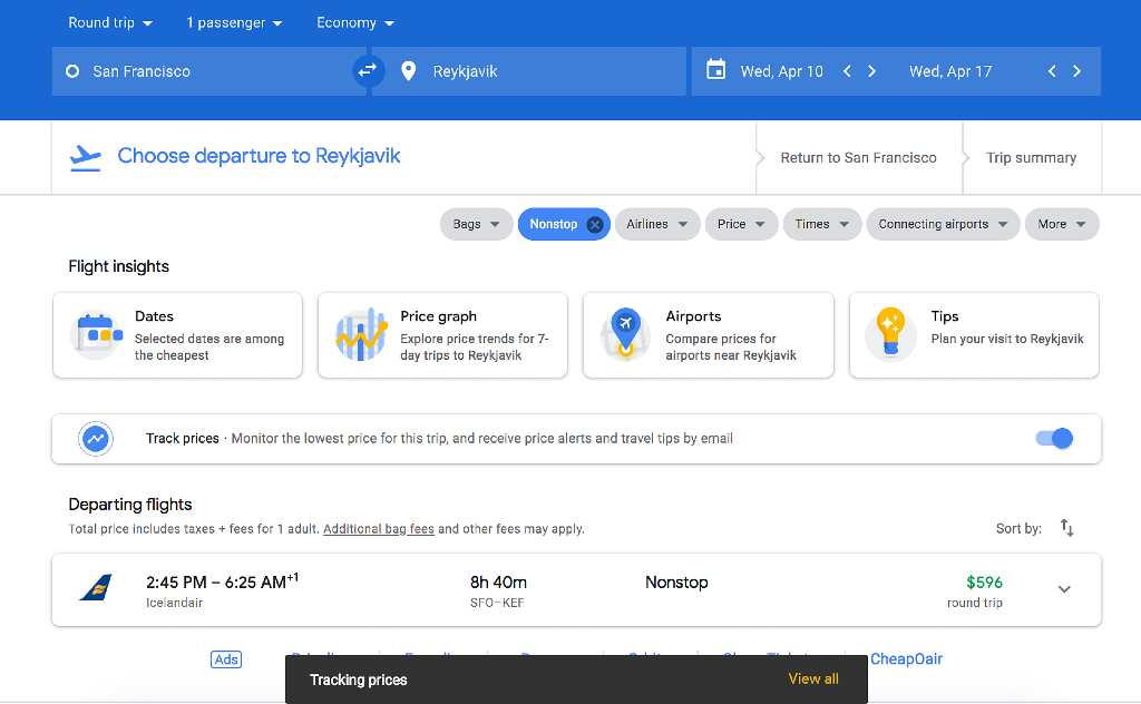 """Click """"View all""""; How to Set Up Google Flight Alerts?"""
