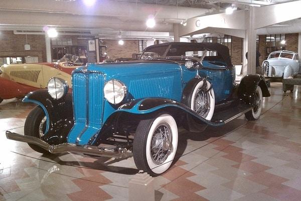 A classic car in Auburn Cord Duesenberg Festival