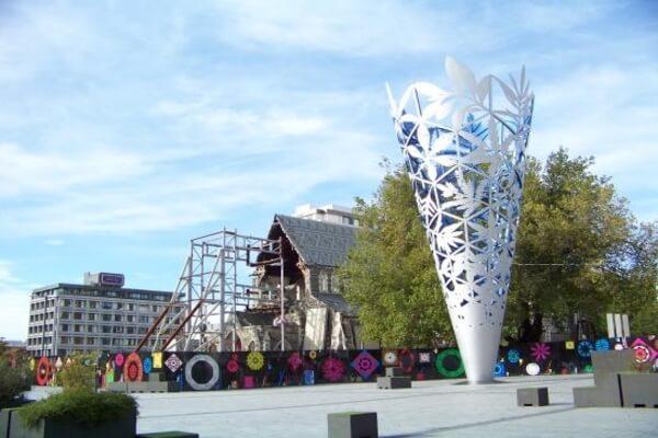Crystal cone of Christchurch Canterbury,