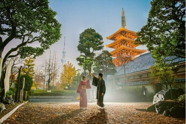 Kyoto, Japan romantic places