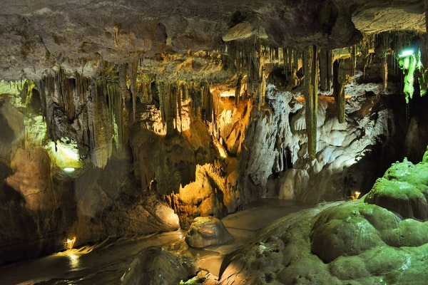 Limestone caves is what Indiana is famously known for