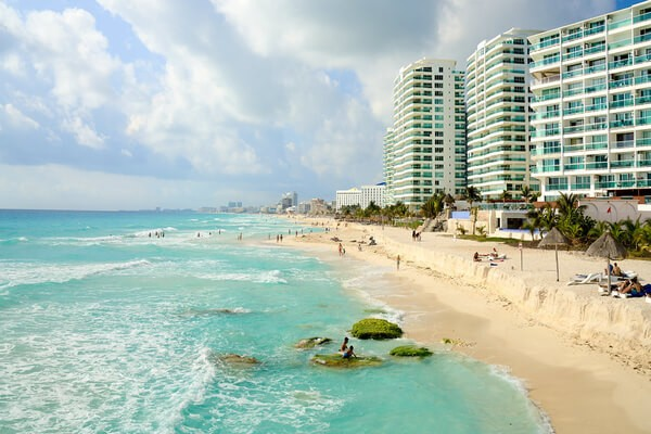 one of the beach of Cancun, famous beach of Mexico; places to visit in mexico