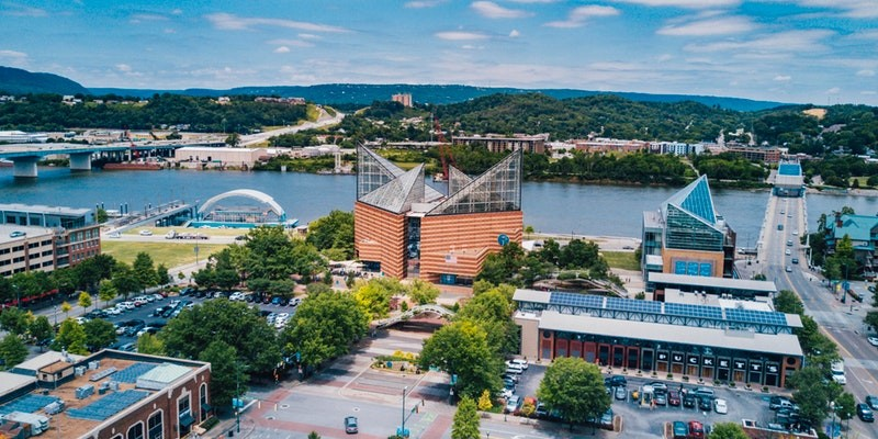 Chattanooga city skyline, Tennessee, United States