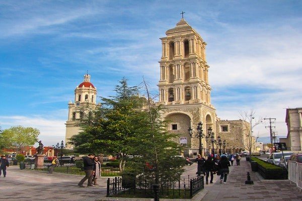 Churrigueresque-Baroque Cathedral of Santiago in the state of  Coahuila