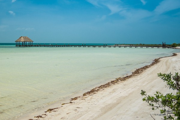 beach of Isla Holbox; places to visit in mexico
