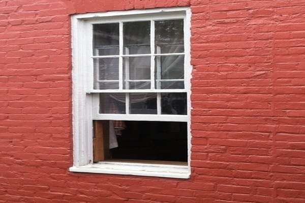 A window of the the historic Levi-Coffin House,what is Indiana famously known for