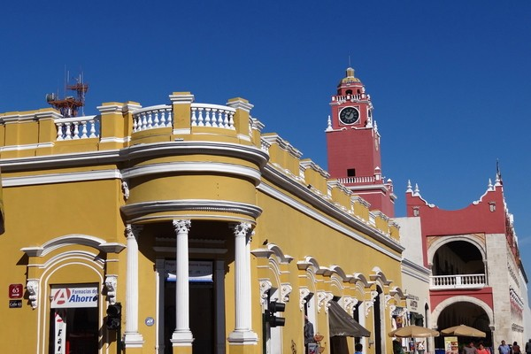 Colonial Facades of Merida ; places to visit in mexico