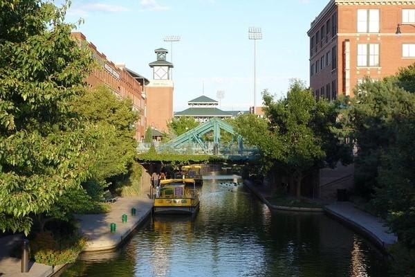 Bricktown Canal, Oaklahoma city, U.S