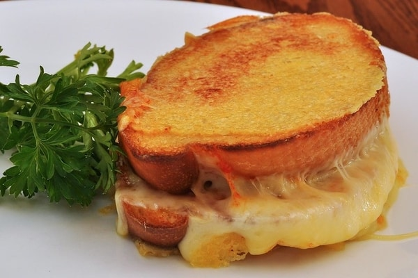 Delicious grilled cheese dish