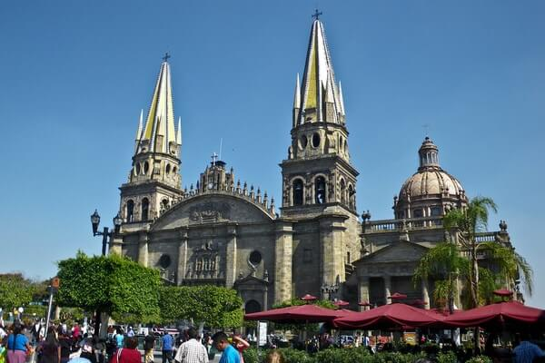 Cathedral of Guadalajara  in Guadalajara city in Mexico