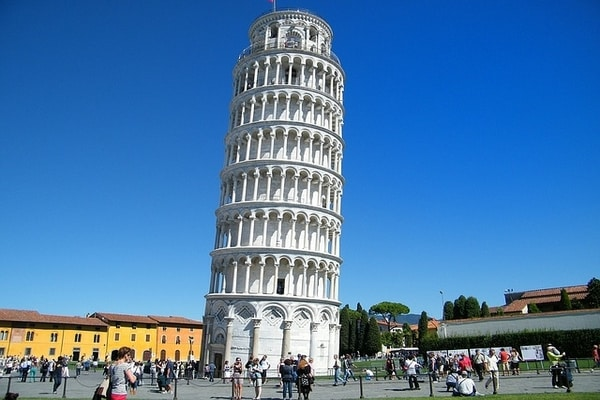 The world famous leaning tower of Pisa, Italy