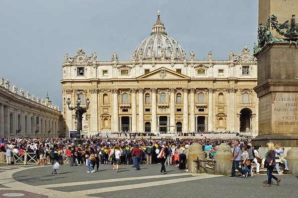 The famous Saint Peter's Basilica in the Vatican City; vatican day tour; best day trips from rome
