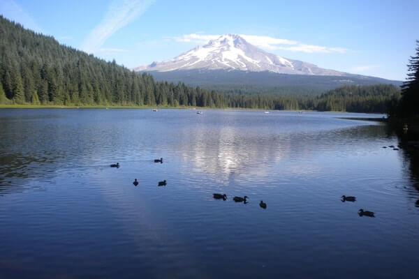 Trillium Lake, best day trips from Portland