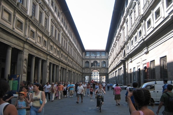 Uffizi Gallery museum in Florence, Italy ; rome to pisa tour; florence and pisa day trip from rome; best day trips from rome
