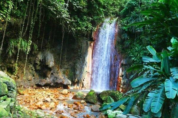 waterfall & mineral bath