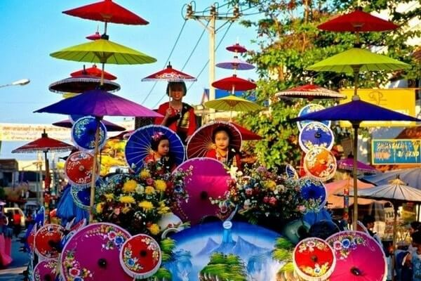 Bo Sang Umbrella Village, best day trips from Chiang Mai