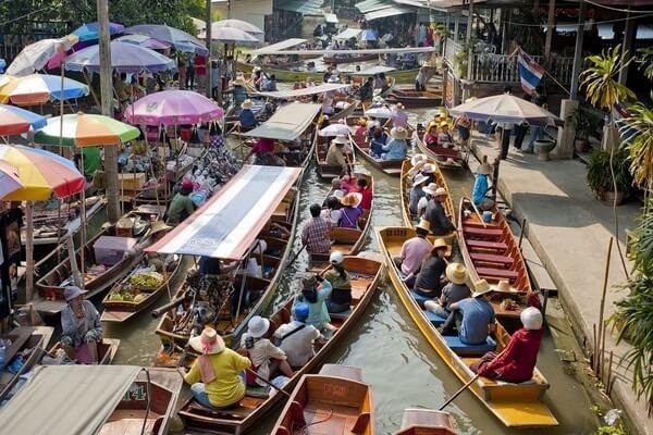 Damnoen Saduak Floating Market,Day Trips from Bangkok