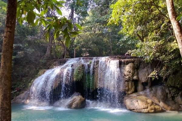 Erawan Waterfall, best day trips from Bangkok