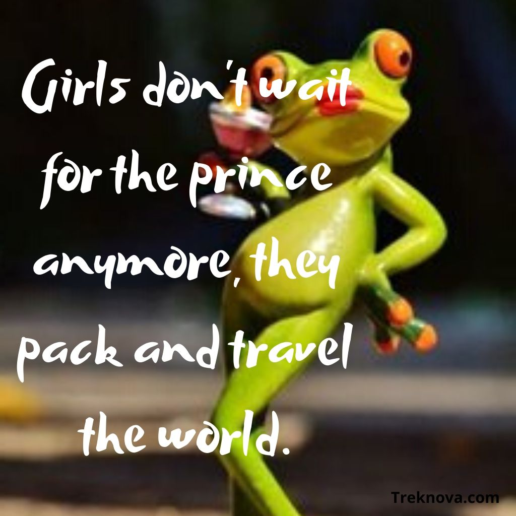 Girls don't wait for the prince anymore, they pack and travel the world., Funny Travel Quotes