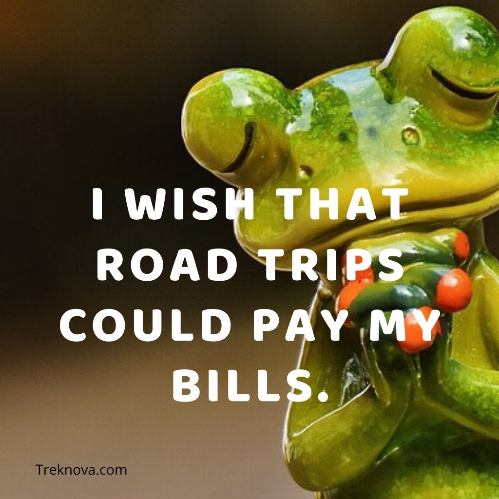 I wish that road trips could pay my bills., Funny Travel Quotes