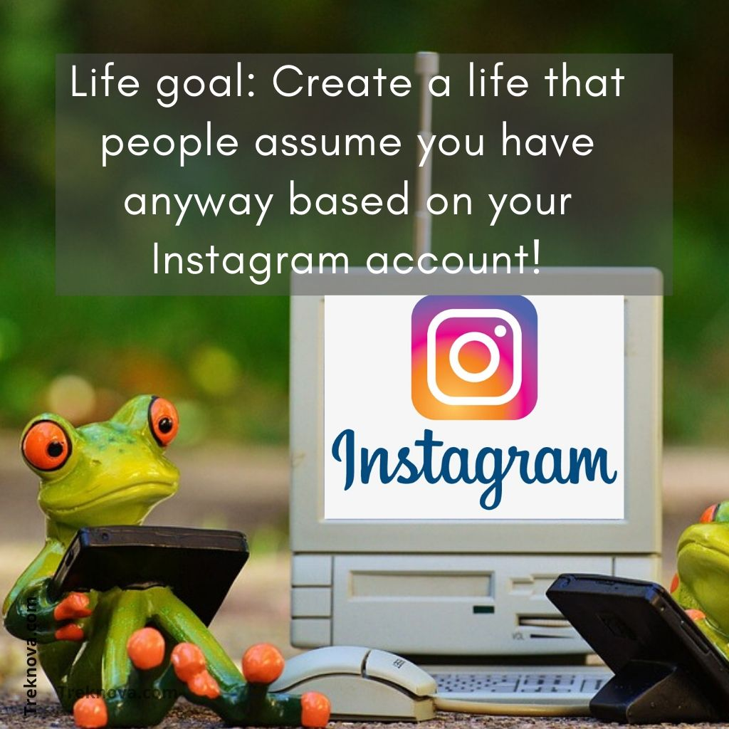 Life goal: Create a life that people assume you have anyway based on your Instagram account!, Funny Travel Quotes