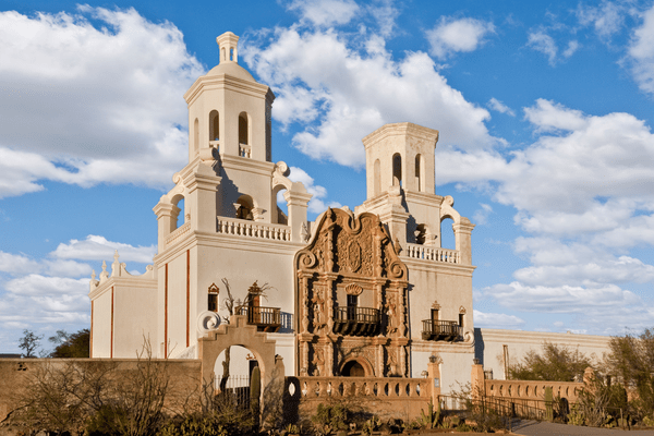 San Xavier del Bac mission;Day trips from Scottsdale