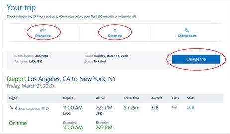American-airlinesCancel-trips-toolbar