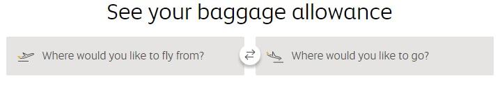 Etihad airways baggage allowance calculator
