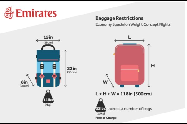 Emirates baggage size, emirates airlines manage booking