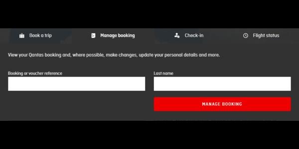 Qantas Airways manage booking