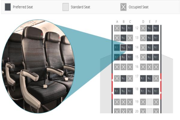 Air canada seat map, air canada manage booking