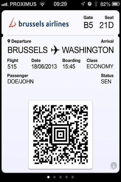 Brussels airline boarding pass, Brussels airlines check-in