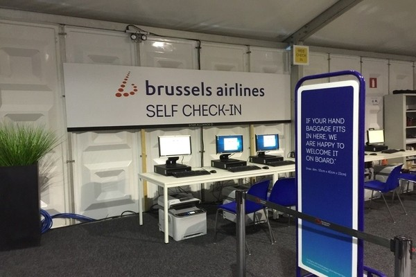 Brussels airlines self check-in, brussels airlines check-in