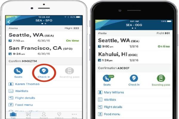 Mobile app alaska check-in