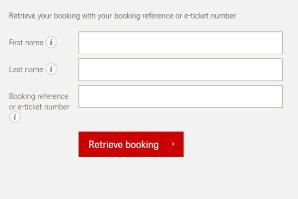 Swiss Air Manage booking