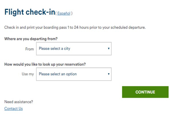 alaska airlines online check-in